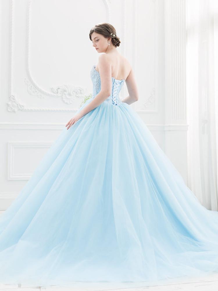 【Cinderella & Co.】スカイブルーのカラードレスSS5982BL 2枚目