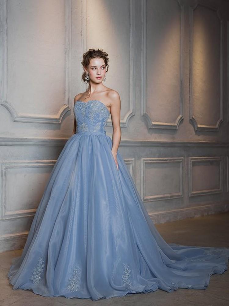 【Cinderella & Co.】ブルーグレーカラードレス SS4592BG 1枚目