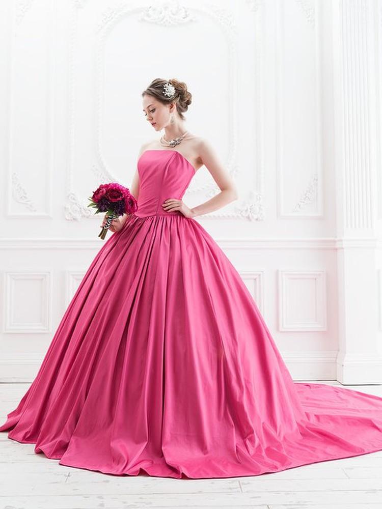 【Cinderella & Co.】ラズベリーピンクのカラードレスSS5523LP 2枚目