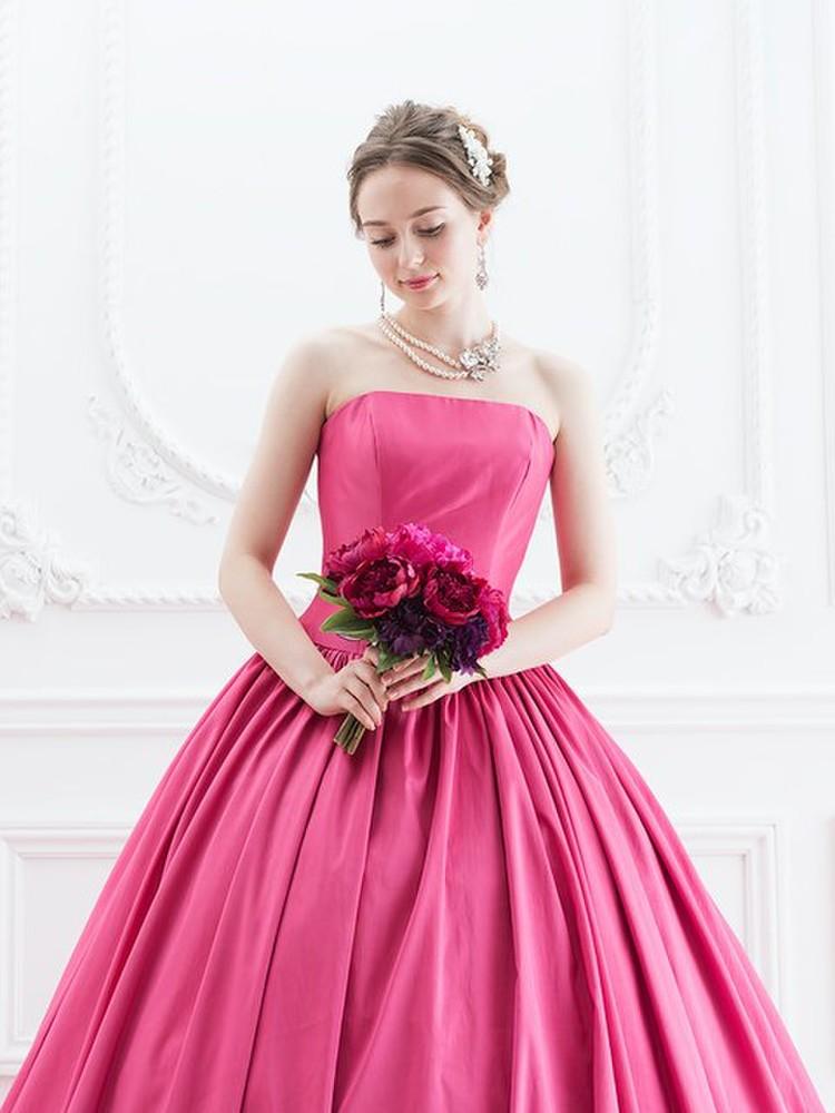 【Cinderella & Co.】ラズベリーピンクのカラードレスSS5523LP 3枚目