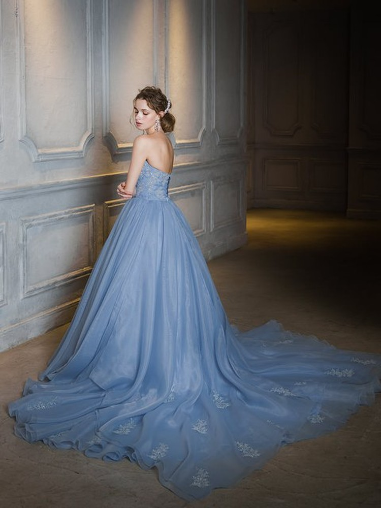 【Cinderella & Co.】ブルーグレーカラードレス SS4592BG 2枚目