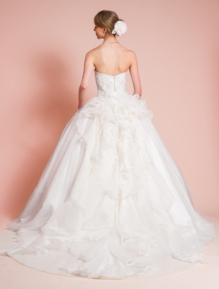 エンブロイダリーレースが特徴的なロマンティックプリンセスドレス 2枚目