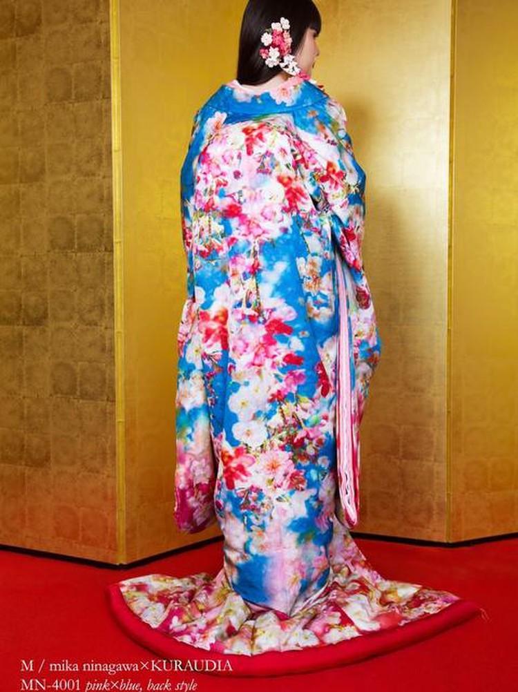 M/mika ninagawa 色打掛 MN-4001 ピンク×ブルー 2枚目