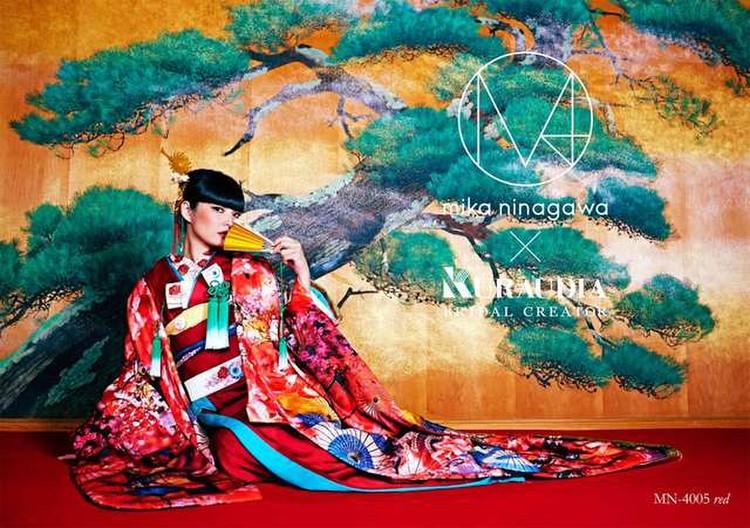 M/mika ninagawa 色打掛 MN-4005 レッド 3枚目