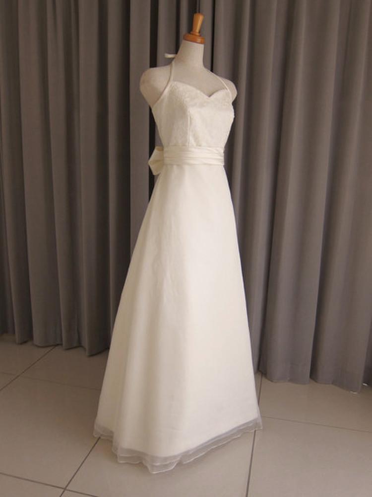 Italian satin & silk organza & lace dress(with bolero) 1枚目