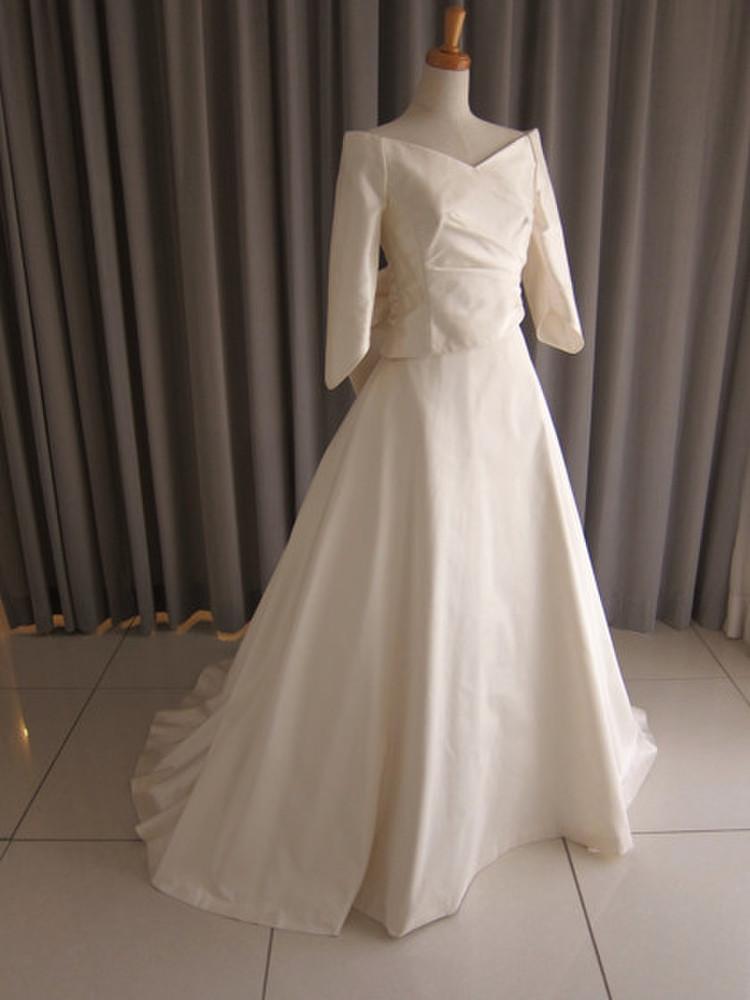 Silk taffeta A-line dress 1枚目