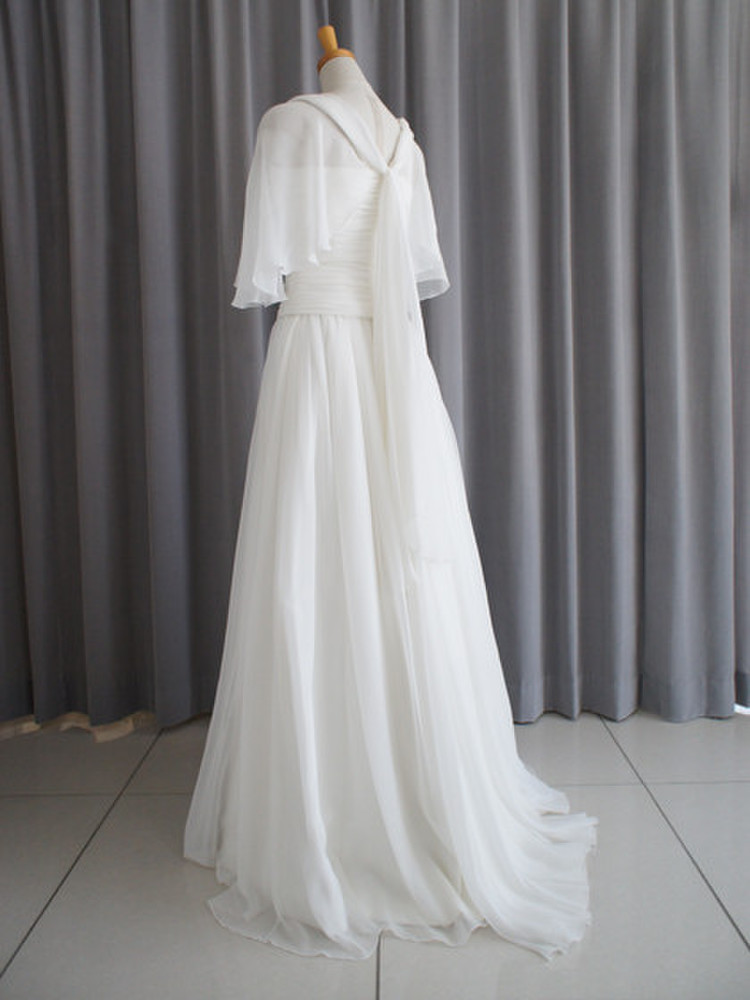 Silk chiffon georgette slender dress 2枚目