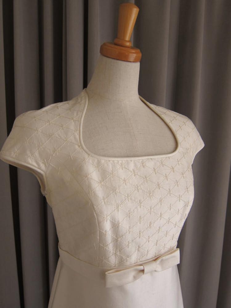 Embroidery silk shamtumg dress 2枚目