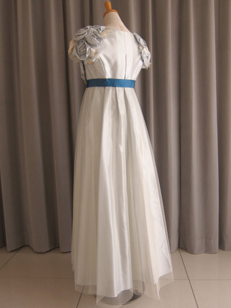 Light-blue rose tulle lace over dress 2枚目