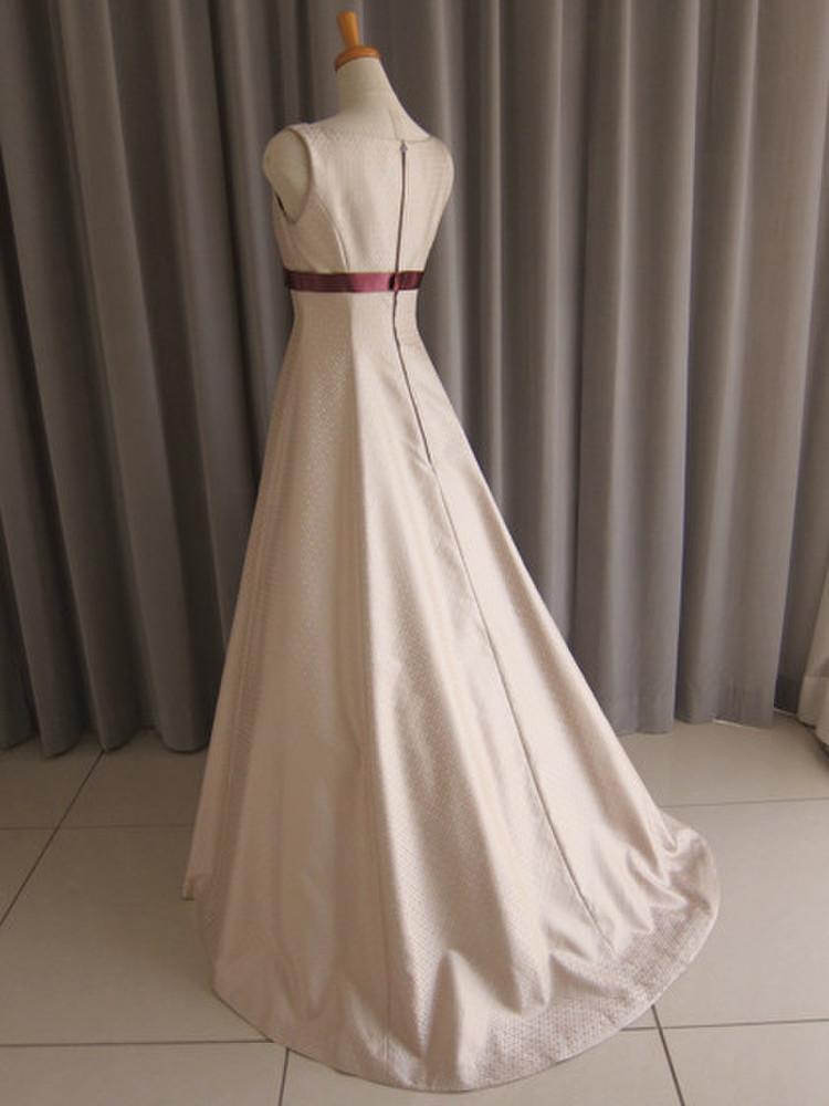 Silk jacquard A-line dress 2枚目