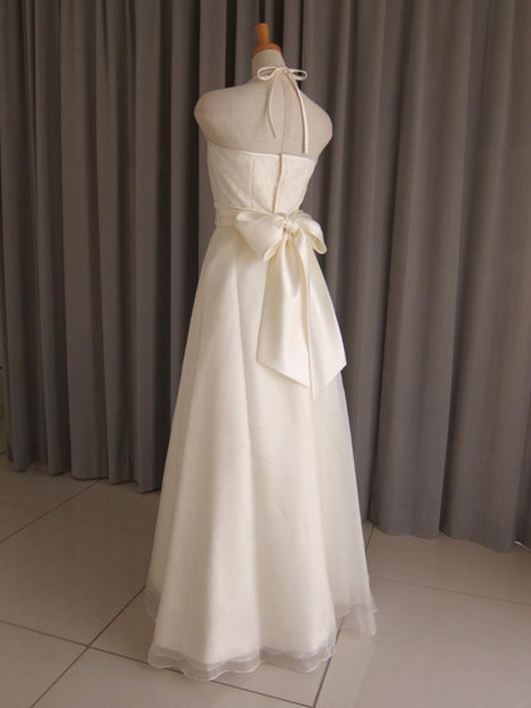 Italian satin & silk organza & lace dress(with bolero) 2枚目