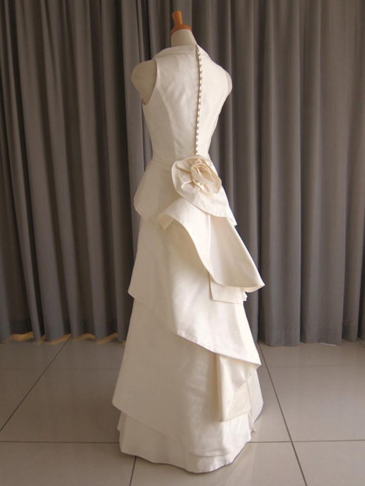 Silk taffeta tiered dress 2枚目