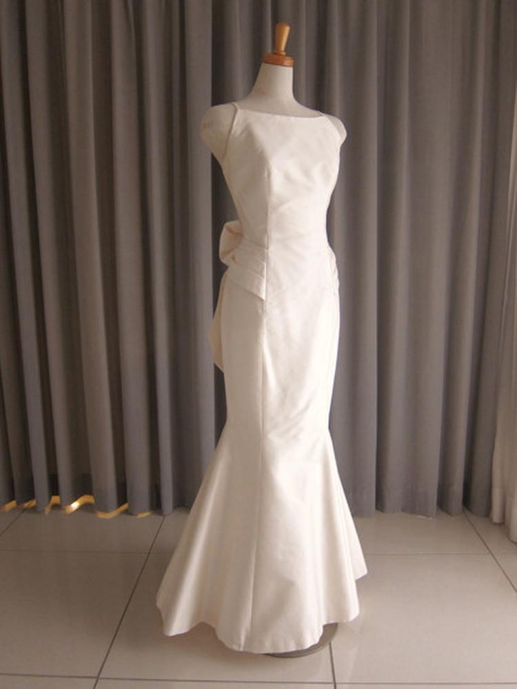 Silk taffeta mermaid line dress 1枚目