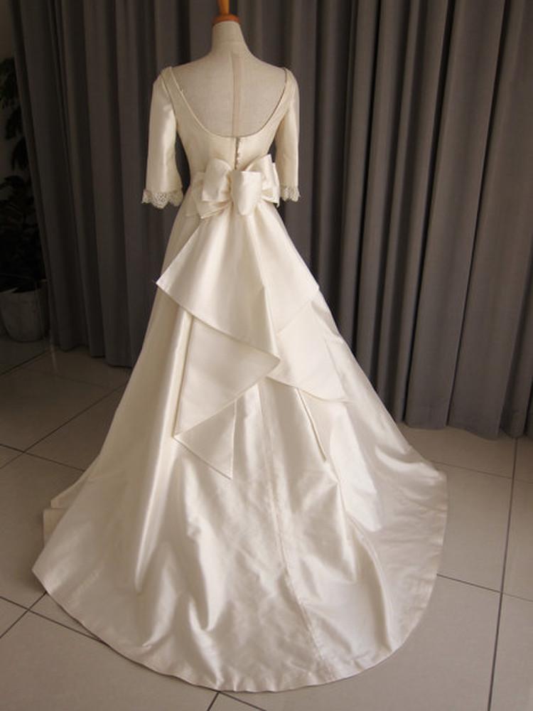 Silk taffeta A-line dress 2枚目