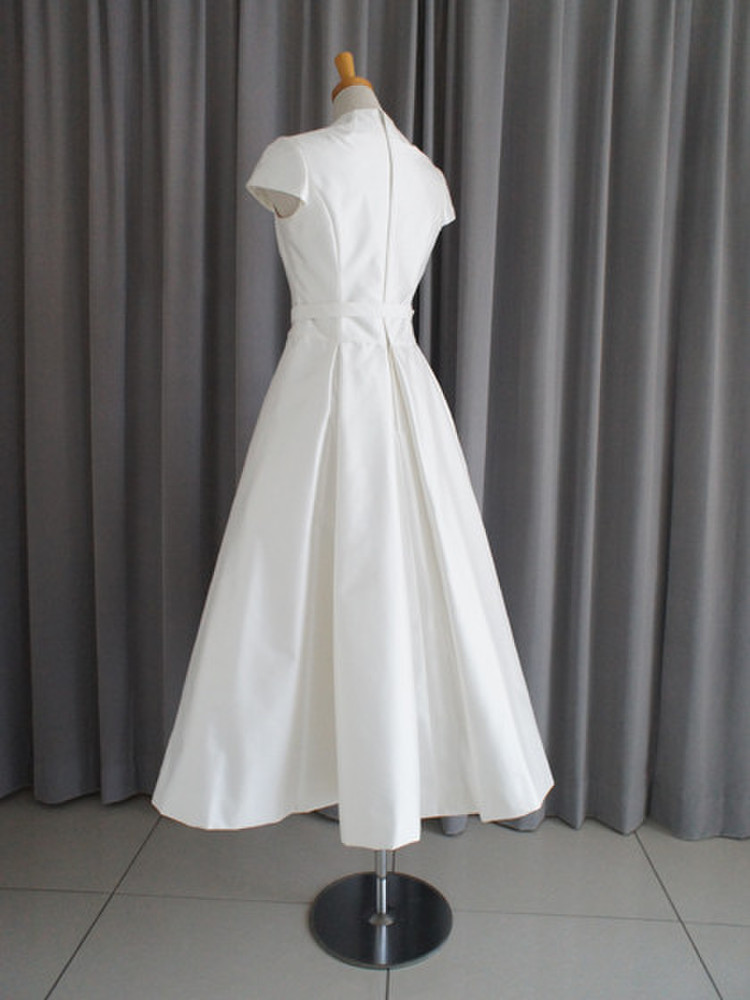 Silk shantung midi dress 2枚目