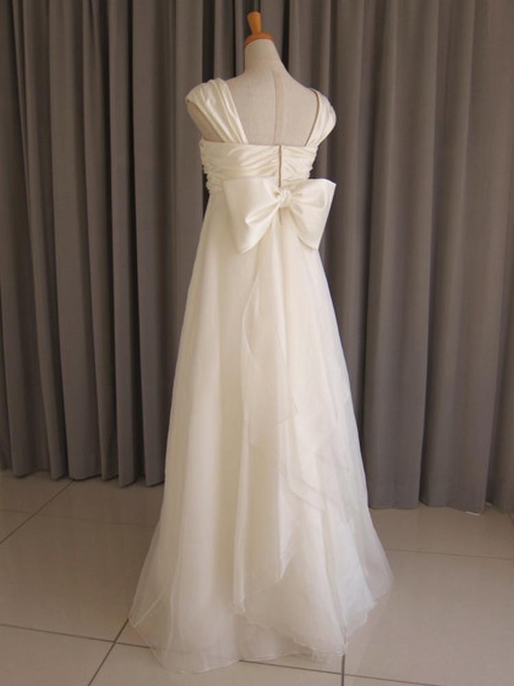 Italian satin & silk organza dress 2枚目