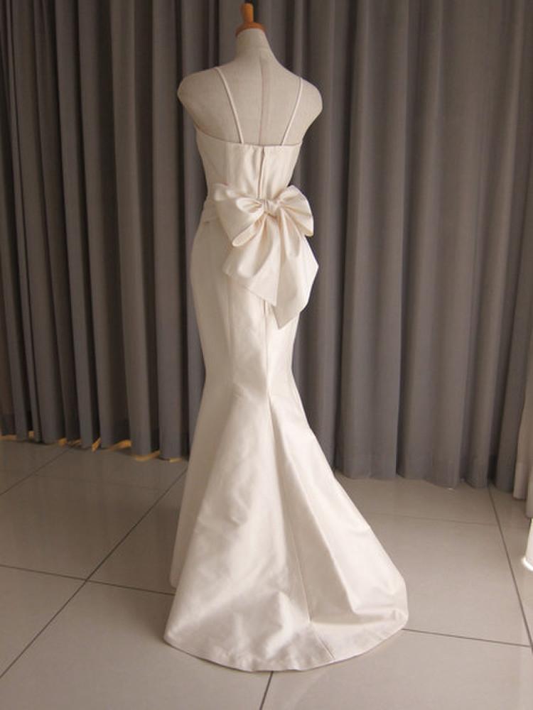 Silk taffeta mermaid line dress 2枚目