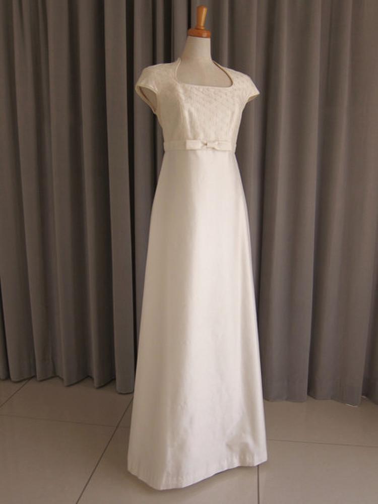 Embroidery silk shamtumg dress 1枚目