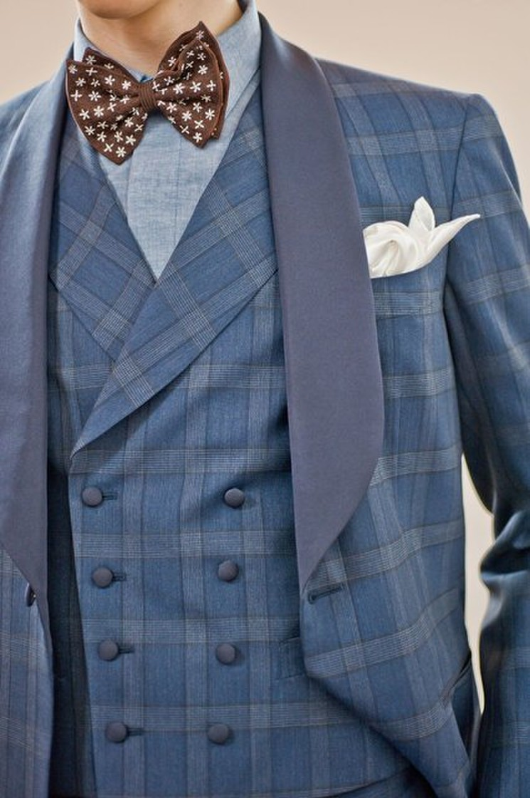 Knox & Taylor original TUXEDO textile by DORMEUIL 3枚目