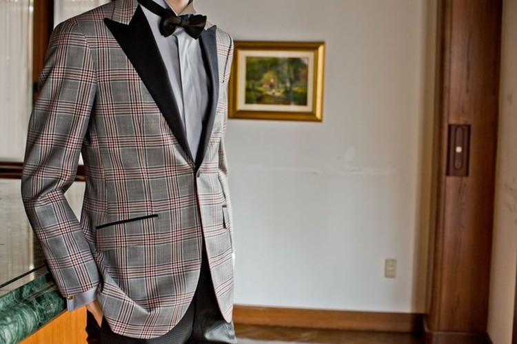 Knox & Taylor original TUXEDO textile by DORMEUIL 2枚目