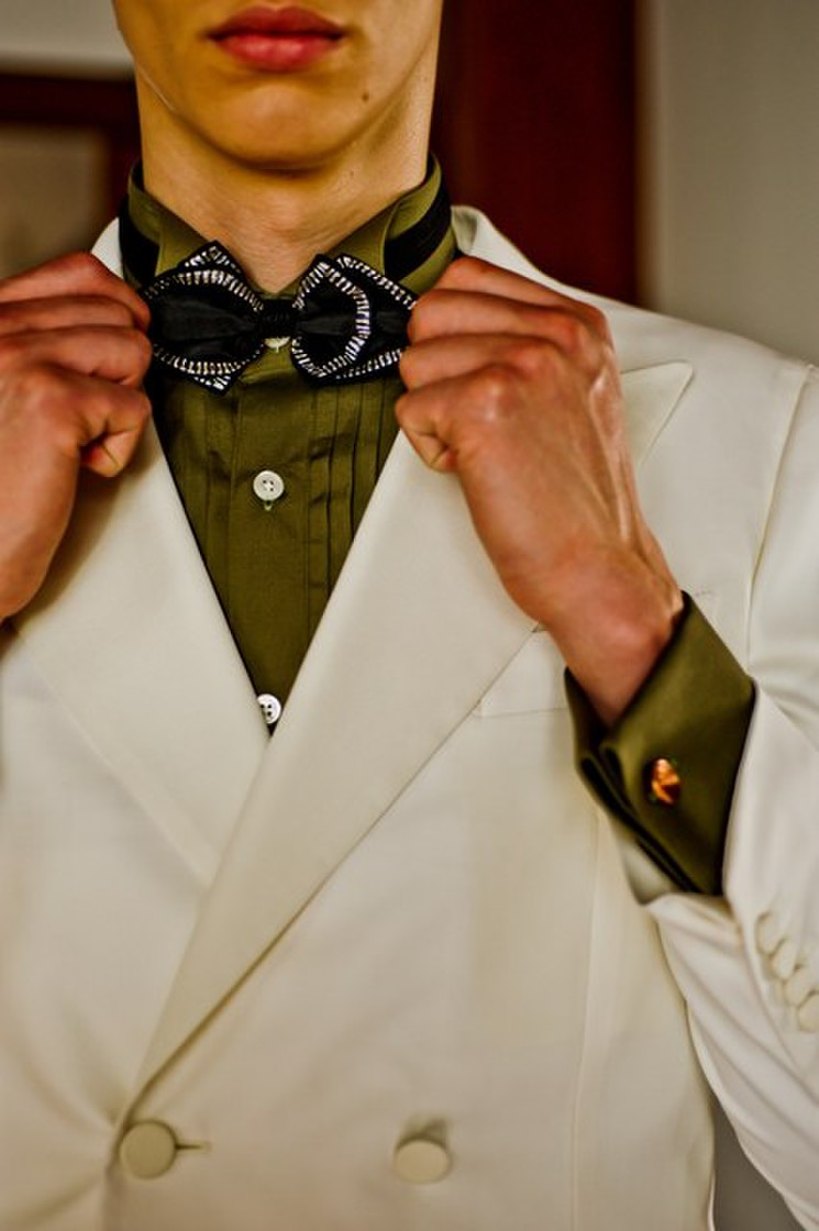 Knox & Taylor original TUXEDO textile by DORMEUIL 2枚目