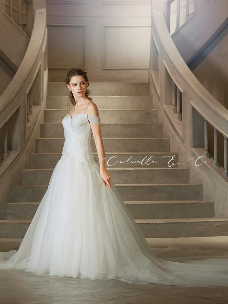 【Cinderella & Co.】ソフトマーメイドのロングトレーンドレスAN0133 by Anellita 1枚目