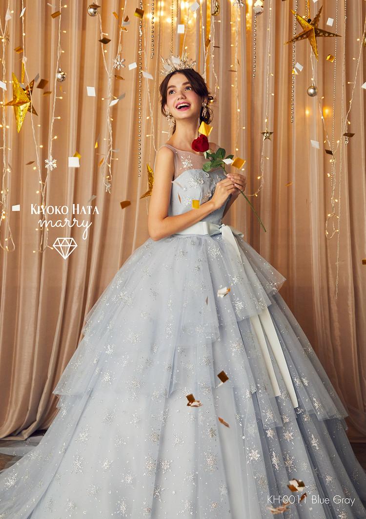 【marry】 KH-0011 雪ドレス Blue Gray 1枚目