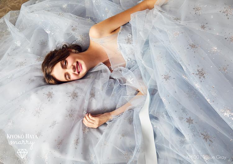 【marry】 KH-0011 雪ドレス Blue Gray 2枚目