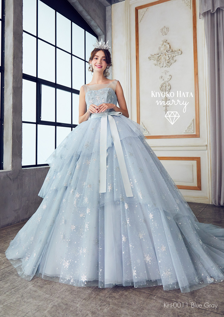 【marry】 KH-0011 雪ドレス Blue Gray 3枚目