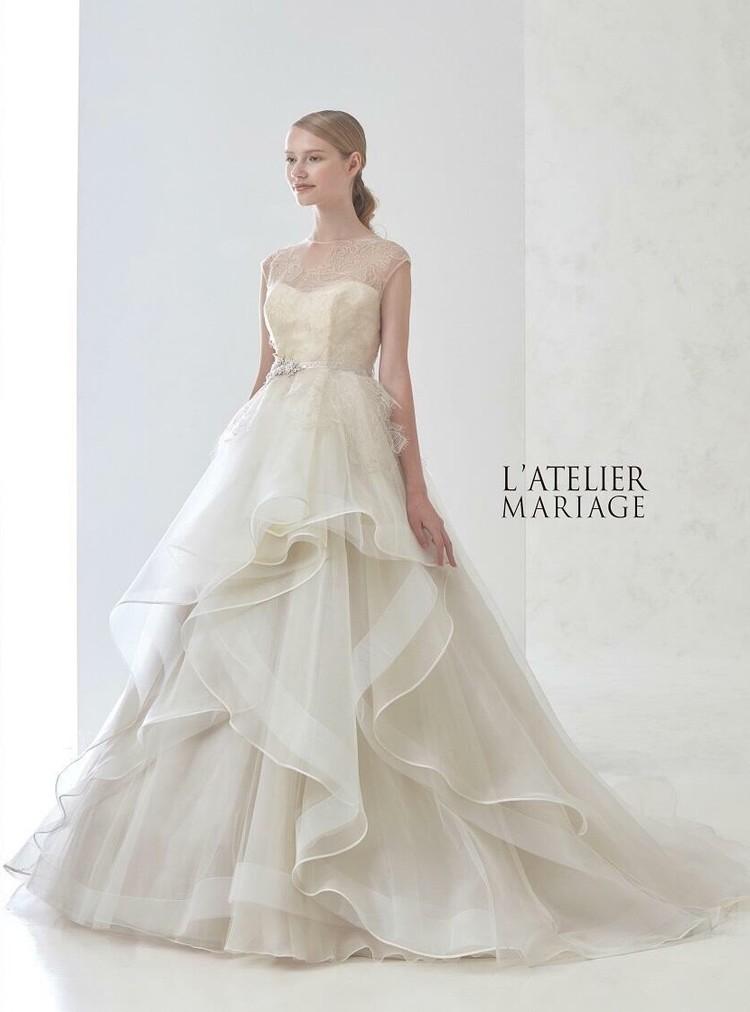 ラトリエマリアージュのウエディングドレス 1枚目