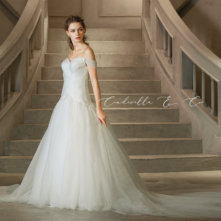 【Cinderella & Co.】ソフトマーメイドのロングトレーンドレスAN0133 by Anellita 2枚目