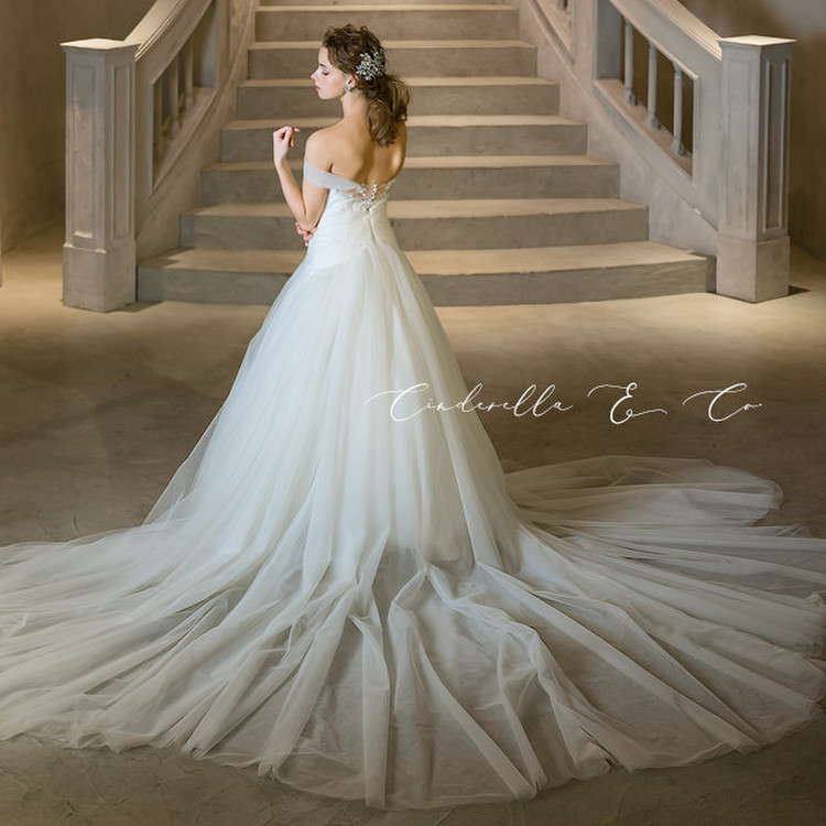 【Cinderella & Co.】ソフトマーメイドのロングトレーンドレスAN0133 by Anellita 3枚目