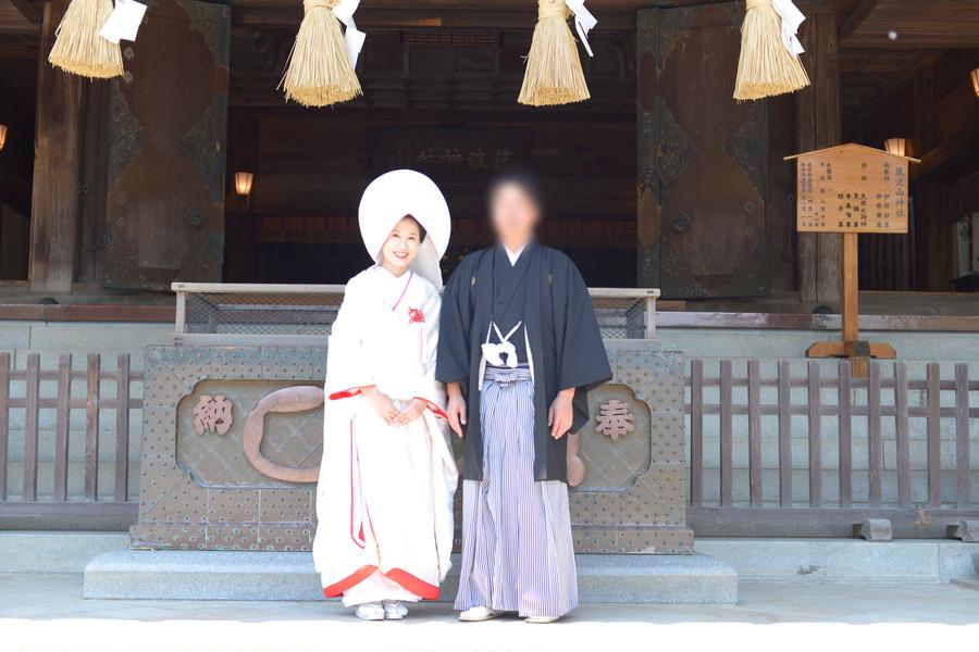 和装 色打掛け 紋付袴 ロケーション 神社