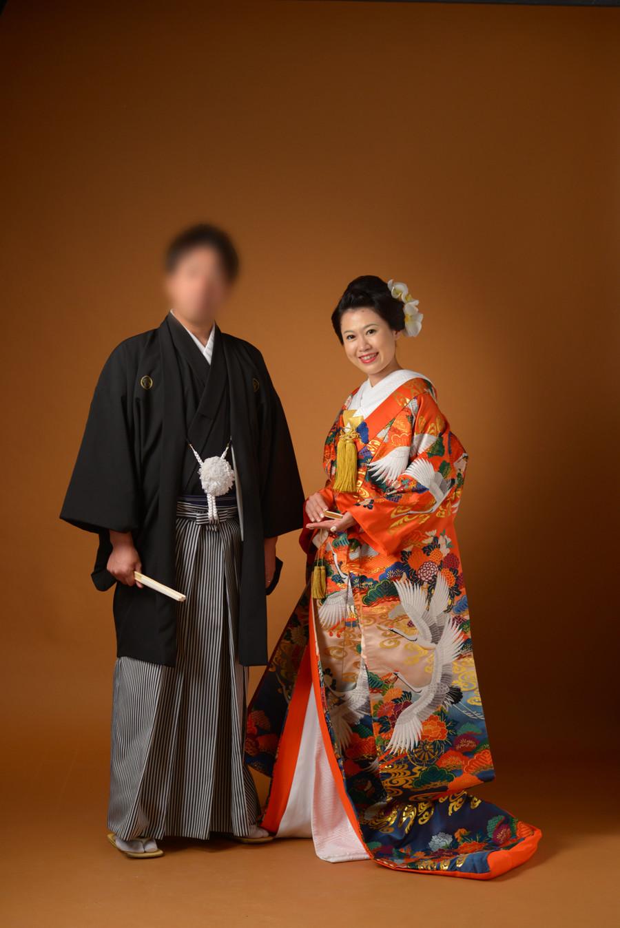 和装 色打掛け 紋付袴 スタジオ